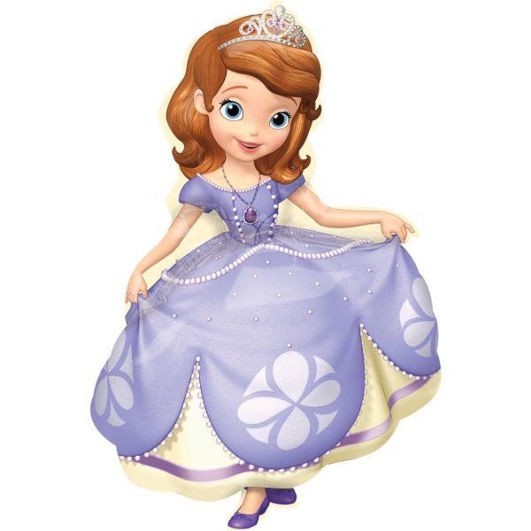 Фольгированный шар фигура Принцесса София. Размер 66х88 см