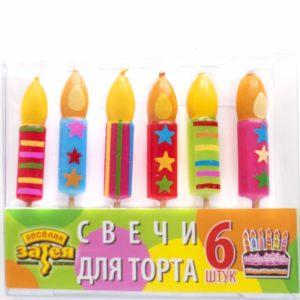 Свечи д/торта на пиках Свеча 6шт
