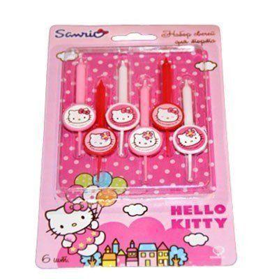 Свечи д/торта Hello Kitty 6шт