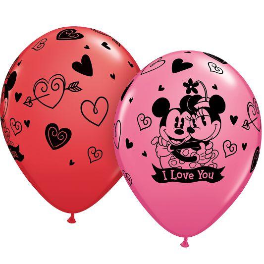 Латексные шарики с рисунком Минии и Микки