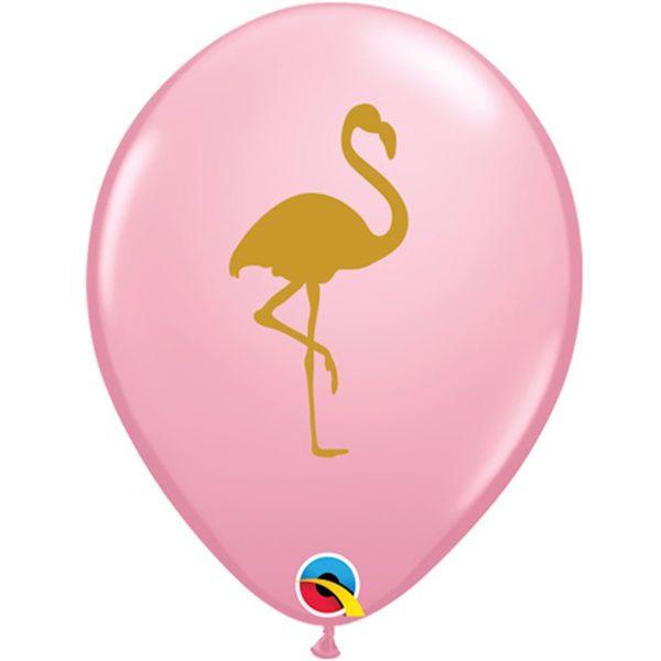 Латексные шарики с рисунком Фламинго
