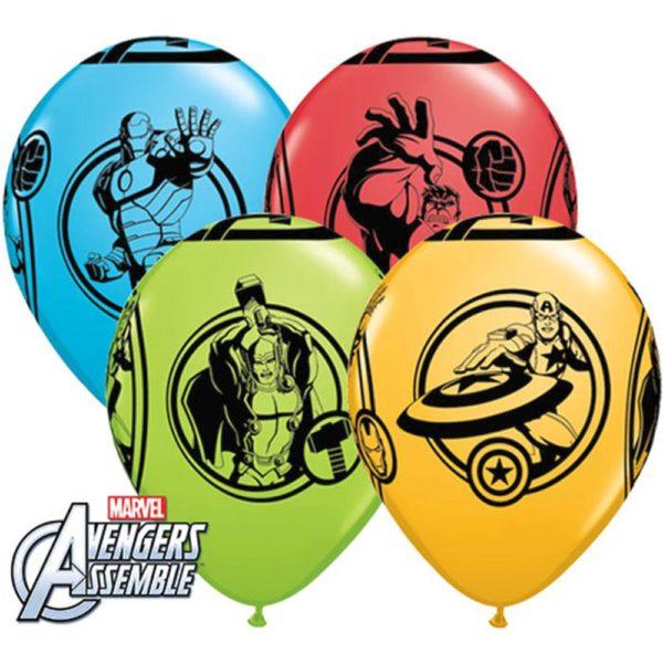 Латексные шарики с рисунком Мстителей