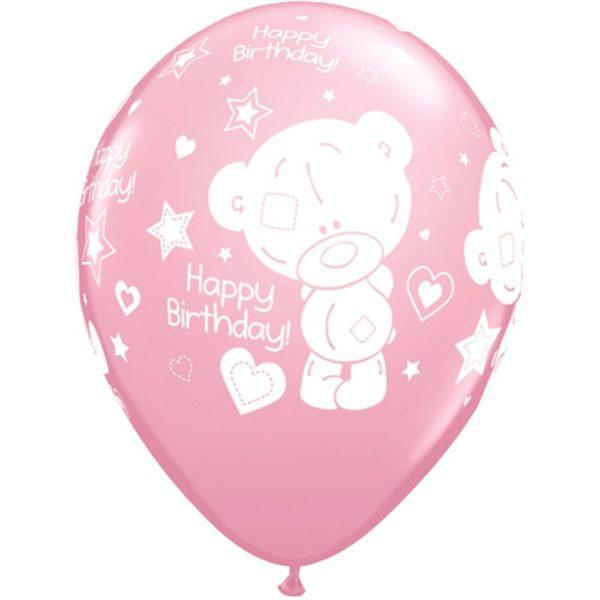 Латексные шарики с рисунком Мишки Happy birthday.