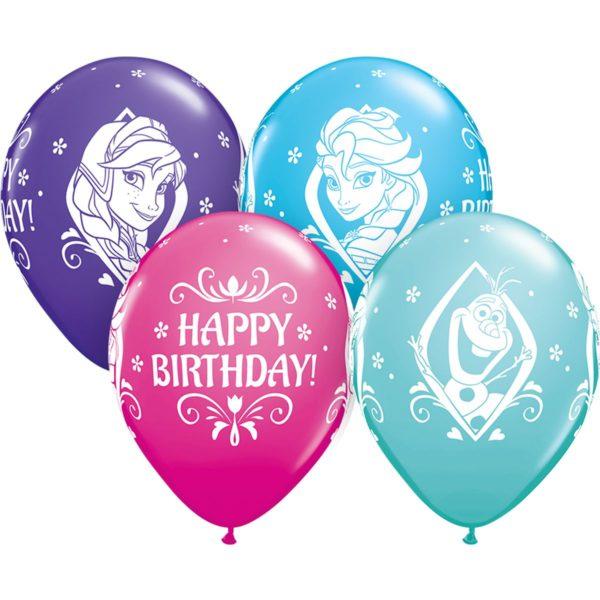 латексные шарики с рисунком Холодное сердце День Рождения