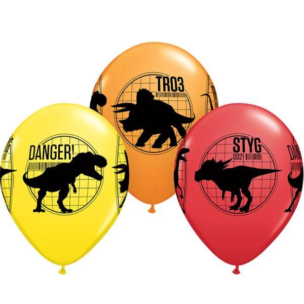Латексные шарики с рисунком Динозавров