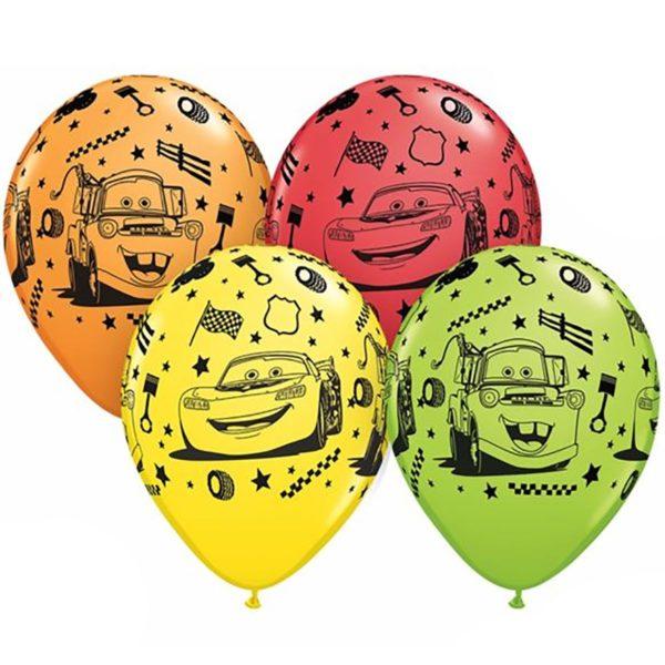 Латексные шарики с рисунком Тачки