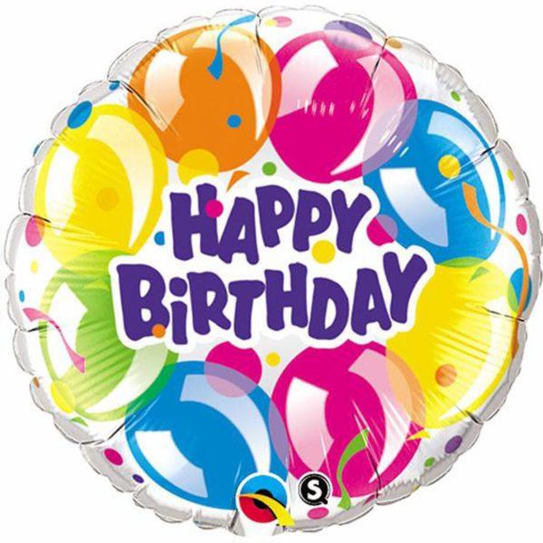 Фольгированный шарик с Днем рождения, шарики. Размер 45 см.