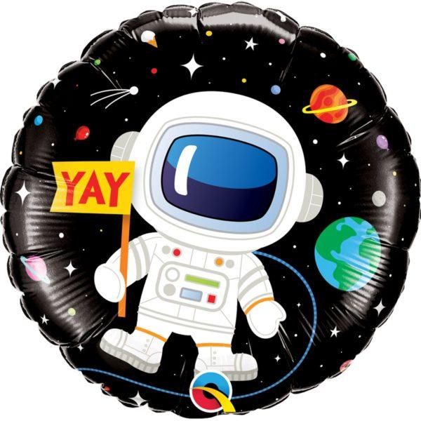 Фольгированный шарик с Днем рождения, космос. Размер 45 см.