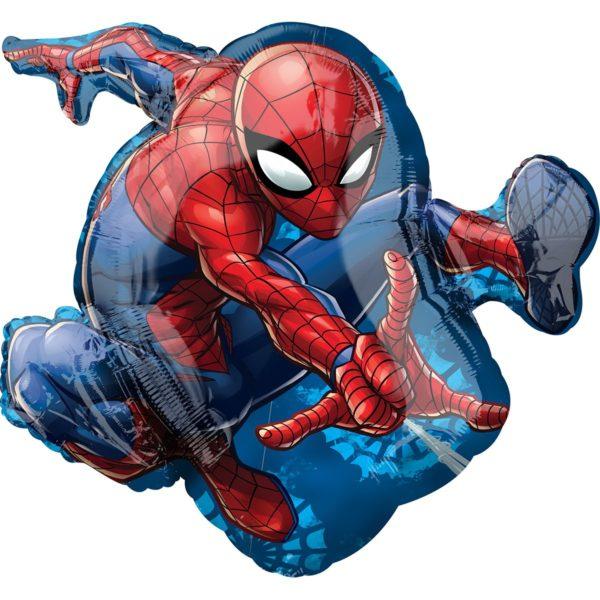 Фольгированный шар фигура Спайдермен. Размер 43х73 см