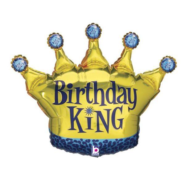 Фольгированный шар в форме короны на день Рождения. Размер 78х34 см
