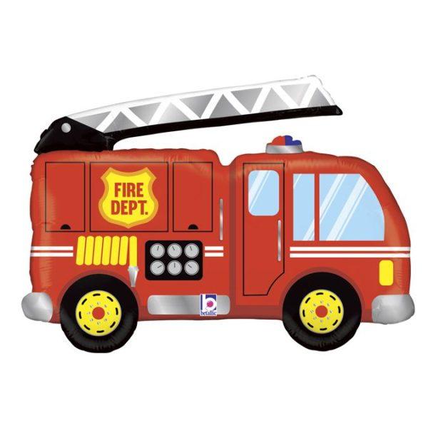 Фольгированный шар фигура пожарная машина. Размер 48х79 см