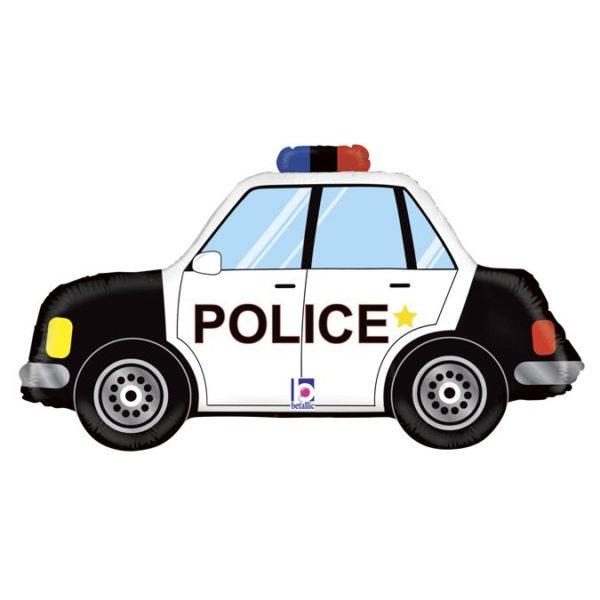 Фольгированный шар фигура полицейская машина. Размер 43х80 см