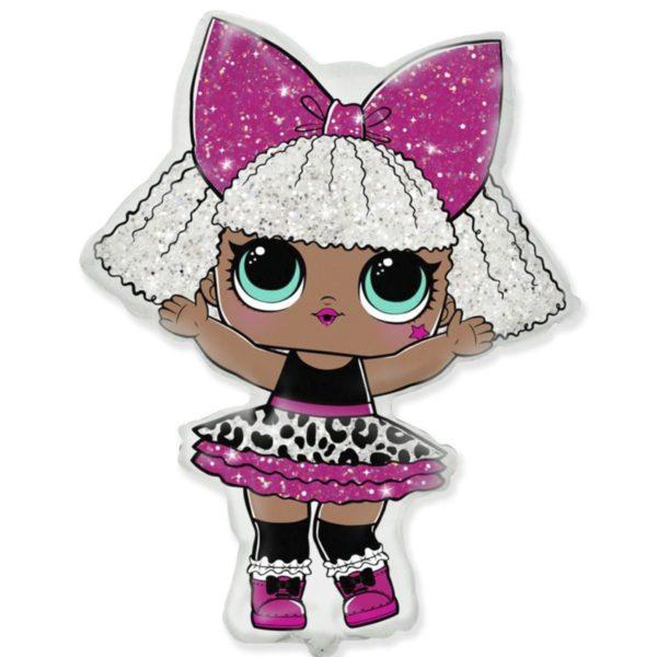 Фольгированный шар фигура Кукла лол Дива lol diva. Размер 64х86 см