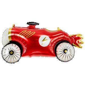 фольгированный шар в форме красной гоночной машинки