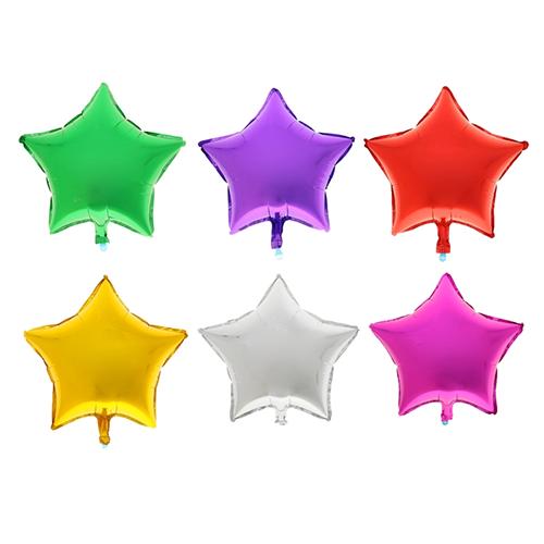 Фольгированный шарик в форме звезд. В комментариях к заказу укажите нужный вам цвет. Размер 45 см.