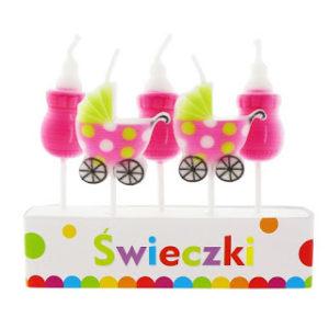 Свечки коляски для девочки