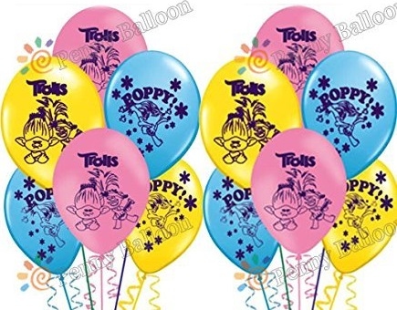 воздушные шарики с Троллями.