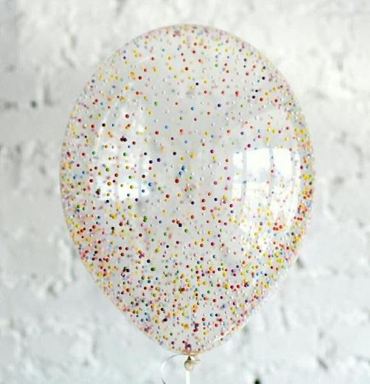 Шарик с пенопластовыми шариками