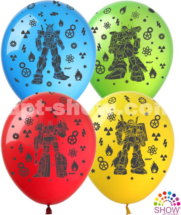 Латексные шарики с рисунком Трансформеры