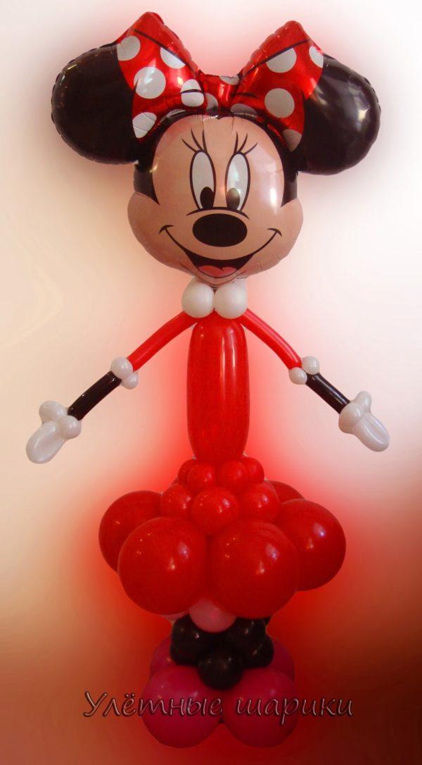 Фигура из воздушных шариков Минни Маус. Высота до 1.5 м.