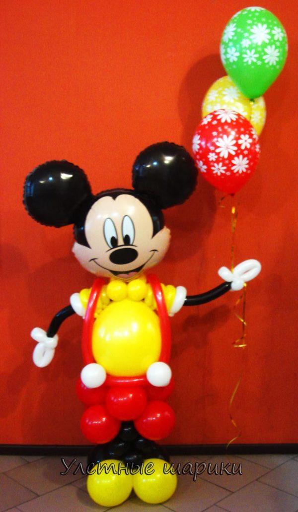 Фигура из воздушных шариков Микки Маус. Высота до 1.5 м.