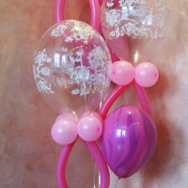 Фигура из воздушных шариков розовые пустышки. Высота до 1.7 м.