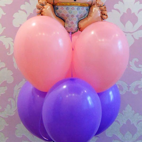 Фигура из воздушных шариков малыш. Высота до 1.6 м.