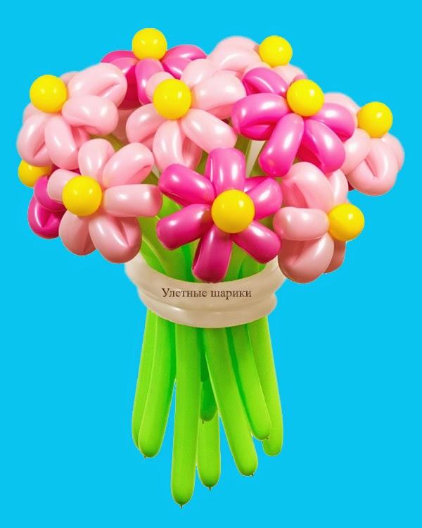Фигура из воздушных шариков розовое настроение. Высота до 1 м.