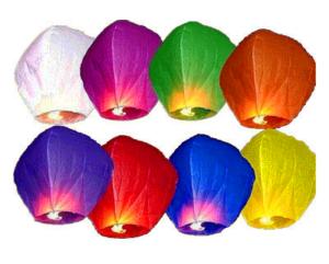 Небесный фонарик желаний, цвета в ассортименте. Размер 85 см.