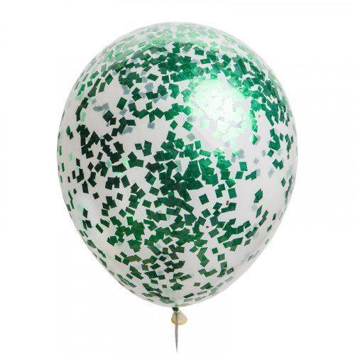 Шарик с зелеными конфетти
