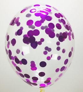 Шарик с фиолетовыми кружочками