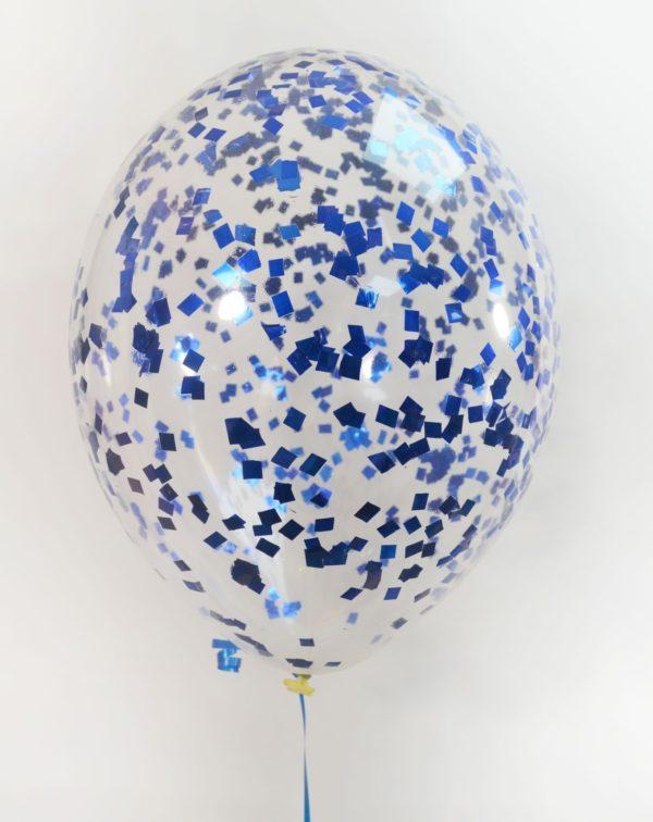 Шарик с синими квадратиками конфетти