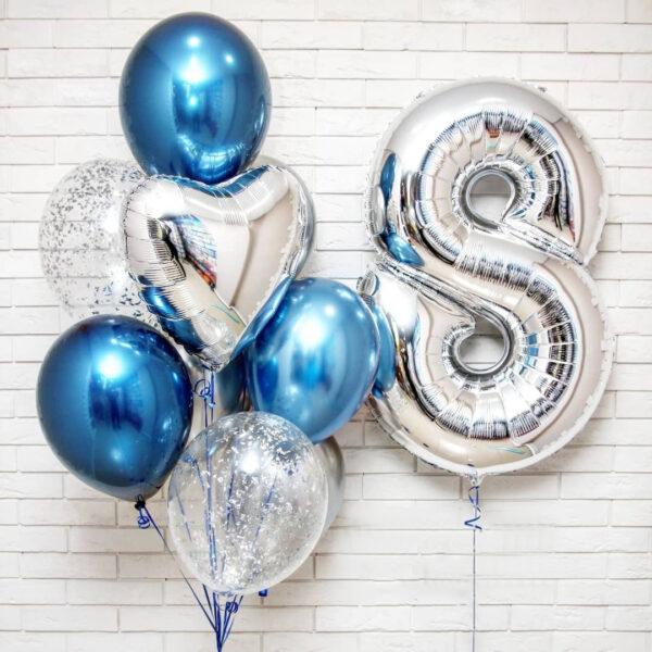 Букет (0.138) Состоит из 10 шариков.