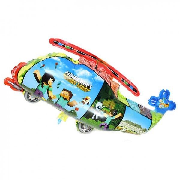 Фольгированный шар вертолет Майнкрафт.