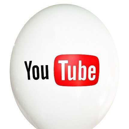 """Воздушный шар с рисунком """"You tube"""""""