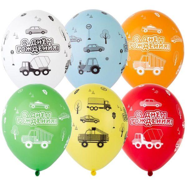 Латексные шары круглые с рисунком с др машинки