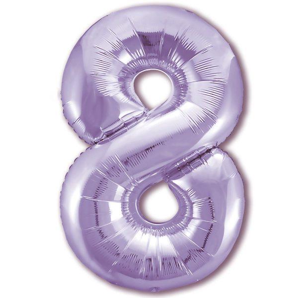 Цифра 8 slim лаванда