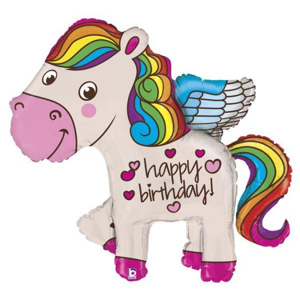 "пони с надписью ""Happy Birthday"""