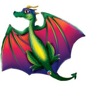 фольгированный шар в виде красочного дракона