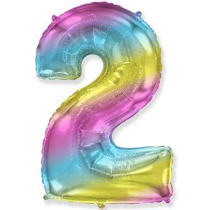 Цифра 2 радуга