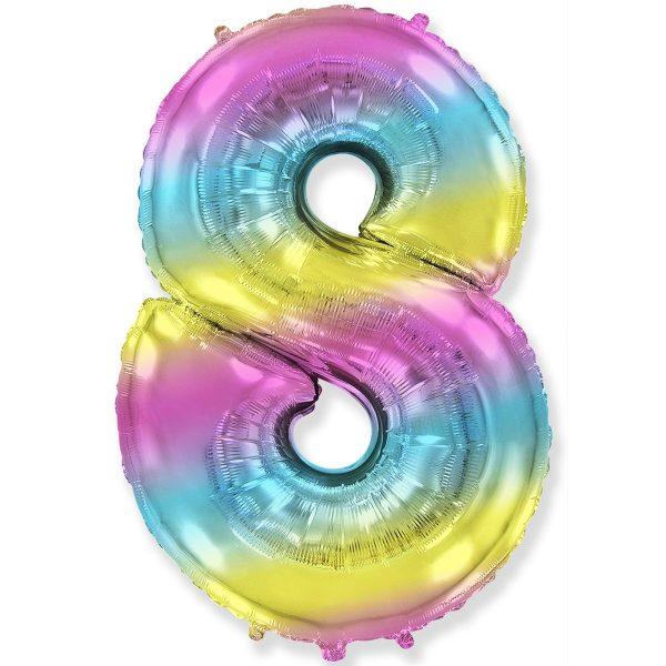 Цифра 8 радуга