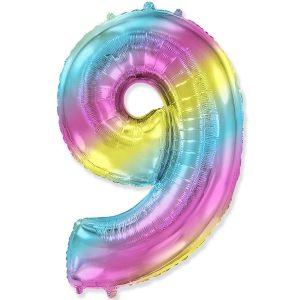 Цифра 9 радуга