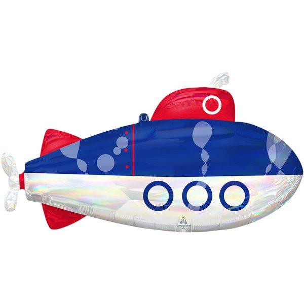фольгированный шар в форме большой подводной лодки