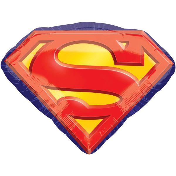 Фольгированный шар Anagram в форме яркой эмблемы супергероя. Произведен в США. Размер фигуры: 66х50 см
