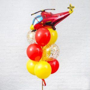 Букет из шаров с вертолетом