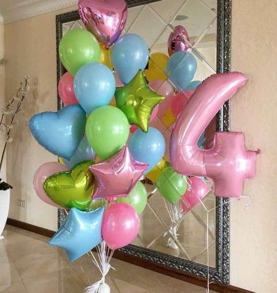 Букет (0.200) Состоит из 10 шариков.