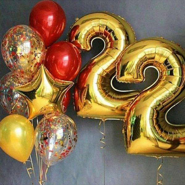 Букет (0.201) Состоит из 12 шариков.