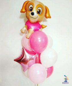 Букет из воздушных шаров с Скай