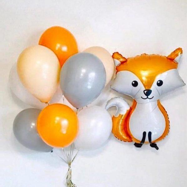 Букет из воздушных шаров с Лисичкой