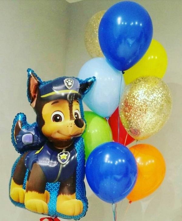 Букет из воздушных шаров с Чейзом